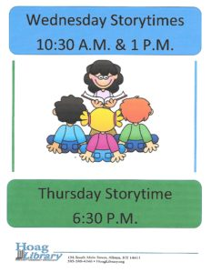 Wednesday and Thursday Storytimes