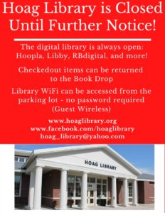Hoag Library is Closed- Flyer