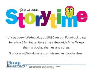 July & August Storytime
